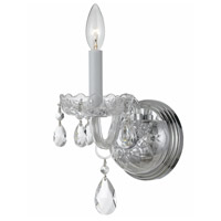 Crystorama Traditional Crystal 1 Light Wall Sconce in Polished Chrome with Hand Cut Crystals 1031-CH-CL-MWP
