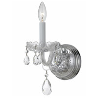 Crystorama Traditional Crystal 1 Light Wall Sconce in Polished Chrome 1031-CH-CL-SAQ