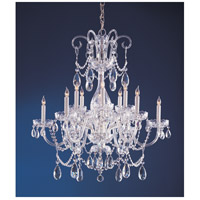Crystorama Traditional Crystal 12 Light Chandelier in Polished Chrome, Hand Cut 1035-CH-CL-MWP