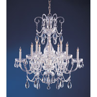Traditional Crystal 12 Light 32 inch Polished Chrome Chandelier Ceiling Light in Clear Swarovski Strass