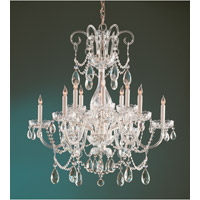 Crystorama Traditional Crystal 12 Light Chandelier in Polished Brass, Clear Crystal, Swarovski Elements 1035-PB-CL-S