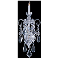Crystorama 1041-CH-CL-MWP Traditional Crystal 1 Light 10 inch Polished Chrome Wall Sconce Wall Light in Polished Chrome (CH), 9.5-in Width