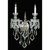Crystorama Traditional Crystal 2 Light Vanity Light in Polished Brass 1042-PB-CL-MWP
