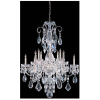 Crystorama Traditional Crystal 12 Light Chandelier in Polished Chrome 1045-CH-CL-MWP