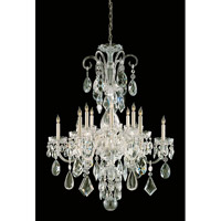 Crystorama 1045-PB-CL-MWP Traditional Crystal 12 Light 31 inch Polished Brass Chandelier Ceiling Light in Polished Brass (PB), 31-in Width
