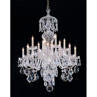 Signature 16 Light 32 inch Polished Chrome Chandelier Ceiling Light in Clear Crystal (CL), Hand Cut, Polished Chrome (CH)