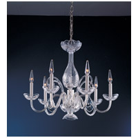 Crystorama Traditional Crystal 6 Light Chandelier in Polished Chrome 1050-CH-CL-MWP