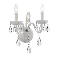 Crystorama Envogue 2 Light Wall Sconce in Wet White 1072-WW-CL-SAQ