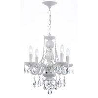Crystorama Envogue 4 Light Mini Chandelier in Wet White 1074-WW-CL-SAQ