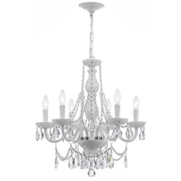 Crystorama Envogue 6 Light Chandelier in Wet White 1076-WW-CL-SAQ