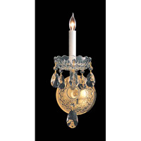 Crystorama Traditional Crystal 1 Light Wall Sconce in Polished Brass with Hand Cut Crystals 1101-PB-CL-MWP