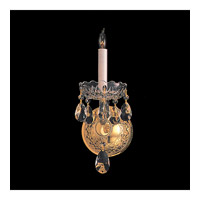 Crystorama Traditional Crystal 1 Light Wall Sconce in Polished Brass with Swarovski Spectra Crystals 1101-PB-CL-SAQ