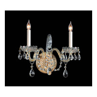 Crystorama Traditional Crystal 2 Light Wall Sconce in Polished Brass 1102-PB-CL-MWP