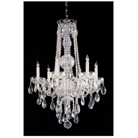 Traditional Crystal 6 Light 22 inch Polished Chrome Chandelier Ceiling Light in Clear Swarovski Strass