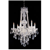 Traditional Crystal 6 Light 22 inch Polished Chrome Chandelier Ceiling Light in Swarovski Spectra (SAQ)