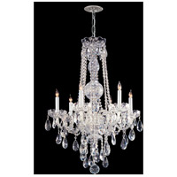 Crystorama Traditional Crystal 6 Light Chandelier in Polished Chrome with Swarovski Spectra Crystals 1106-CH-CL-SAQ