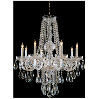 Traditional Crystal 8 Light 26 inch Polished Chrome Chandelier Ceiling Light in Hand Cut, Polished Chrome (CH)
