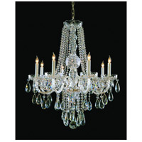 Traditional Crystal 8 Light 26 inch Polished Brass Chandelier Ceiling Light in Polished Brass (PB), Clear Swarovski Strass