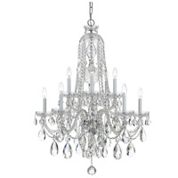 Polished Chrome Glass Traditional Crystal Chandeliers