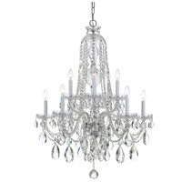 Traditional Crystal 10 Light 32 inch Polished Chrome Chandelier Ceiling Light in Polished Chrome (CH), Clear Swarovski Strass