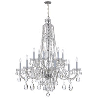 Crystorama 1112-CH-CL-S Traditional Crystal 12 Light 38 inch Polished Chrome Chandelier Ceiling Light in Polished Chrome (CH) Clear Swarovski Strass