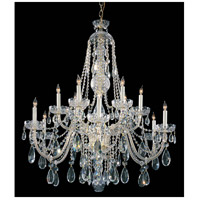 Crystorama 1114-PB-CL-SAQ Traditional Crystal 12 Light 42 inch Polished Brass Chandelier Ceiling Light in Swarovski Spectra (SAQ), Polished Brass (PB)