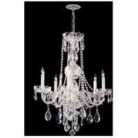 Crystorama Traditional Crystal 5 Light Chandelier in Polished Chrome 1115-CH-CL-SAQ