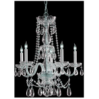 Crystorama Traditional Crystal 5 Light Chandelier in Polished Chrome 1125-CH-CL-SAQ