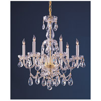 Crystorama 1126-PB-CL-S Traditional Crystal 6 Light 22 inch Polished Brass Chandelier Ceiling Light in Clear Swarovski Strass