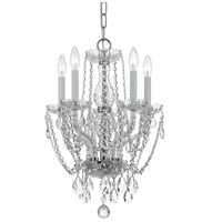 Crystorama Traditional Crystal 5 Light Chandelier in Polished Chrome with Hand Cut Crystals 1129-CH-CL-MWP