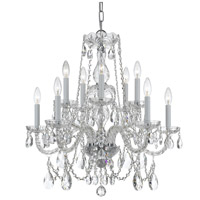 Crystorama 1130-CH-CL-MWP Traditional Crystal 10 Light 26 inch Polished Brass Chandelier Ceiling Light in Polished Chrome (CH), Clear Hand Cut