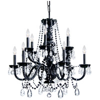 Crystorama Traditional Crystal 12 Light Chandelier in Black 1135-BK-CL-MWP