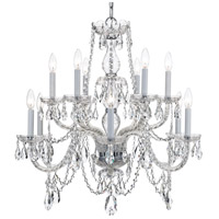 Crystorama 1135-CH-CL-S Traditional Crystal 12 Light 31 inch Polished Chrome Chandelier Ceiling Light in Polished Chrome (CH), Clear Swarovski Strass