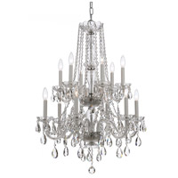 Crystorama Traditional Crystal 12 Light Chandelier in Polished Chrome, Hand Cut 1137-CH-CL-MWP