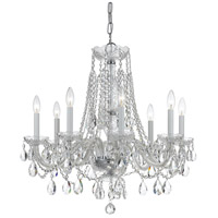 Traditional Crystal 8 Light 26 inch Polished Chrome Chandelier Ceiling Light in Polished Chrome (CH), Clear Hand Cut