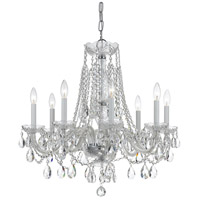 Traditional Crystal 8 Light 26 inch Polished Chrome Chandelier Ceiling Light in Polished Chrome (CH), Clear Swarovski Strass