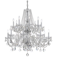 Traditional Crystal 16 Light 37 inch Polished Chrome Chandelier Ceiling Light in Hand Cut, Polished Chrome (CH)