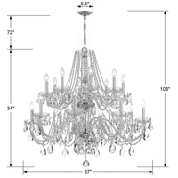 Crystorama Traditional Crystal 16 Light Chandelier in Polished Chrome 1139-CH-CL-S