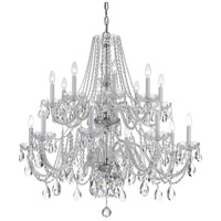 Crystorama 1139-CH-CL-SAQ Traditional Crystal 16 Light 37 inch Polished Chrome Chandelier Ceiling Light in Swarovski Spectra (SAQ) Polished Chrome