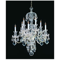 Traditional Crystal 10 Light 28 inch Polished Chrome Chandelier Ceiling Light in Polished Chrome (CH), Clear Hand Cut