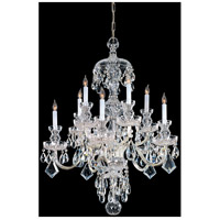 Traditional Crystal 10 Light 28 inch Polished Brass Chandelier Ceiling Light in Polished Brass (PB), Clear Hand Cut
