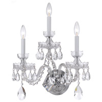 Crystorama Traditional Crystal 3 Light Wall Sconce in Polished Chrome 1143-CH-CL-MWP