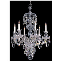 Crystorama Traditional Crystal 6 Light Chandelier in Polished Chrome with Swarovski Spectra Crystals 1146-CH-CL-SAQ