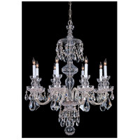 Traditional Crystal 8 Light 28 inch Polished Chrome Chandelier Ceiling Light in Hand Cut