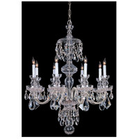 Crystorama Traditional Crystal 8 Light Chandelier in Polished Chrome with Swarovski Spectra Crystals 1148-CH-CL-SAQ