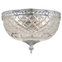 Crystorama 117-10-CH Signature 2 Light 10 inch Polished Chrome Flush Mount Ceiling Light in Polished Chrome (CH), 10-in Width