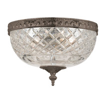 Crystorama Signature 2 Light Flush Mount in English Bronze, 10-in Width 117-10-EB