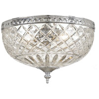 Signature 3 Light 12 inch Polished Chrome Flush Mount Ceiling Light in 12-in Width, Polished Chrome (CH)