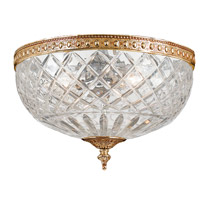 Crystorama 117-8-OB Signature 2 Light 8 inch Olde Brass Flush Mount Ceiling Light in Olde Brass (OB), 8-in Width