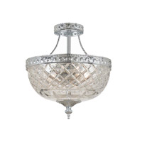 Signature 2 Light 8 inch Polished Chrome Semi Flush Mount Ceiling Light in 8-in Width, Polished Chrome (CH)